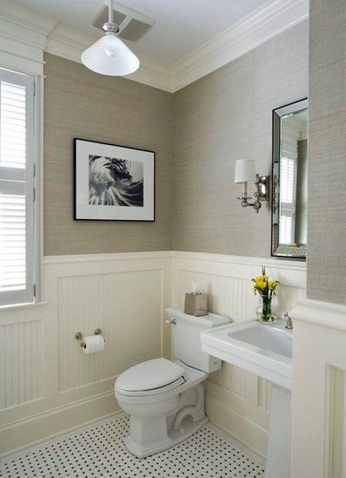 Powder room badezimmer badezimmer badezimmer tapete und badezimmer m bel - Badezimmer tapete ...