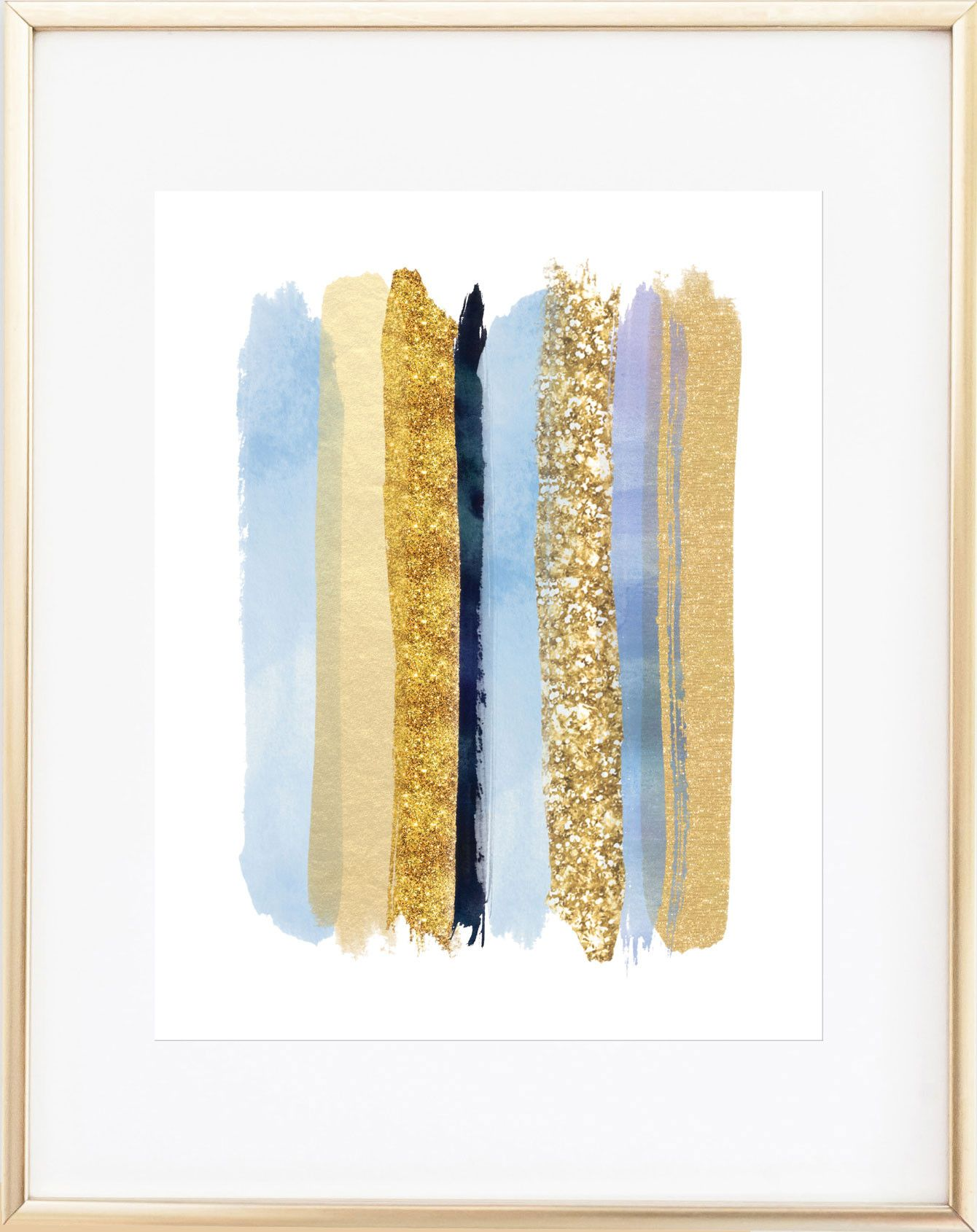 Glamorous Blue and Gold Wall Art | Gold walls, Free iphone and Walls