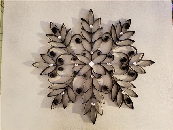 Arte com rolo de papel higiênico