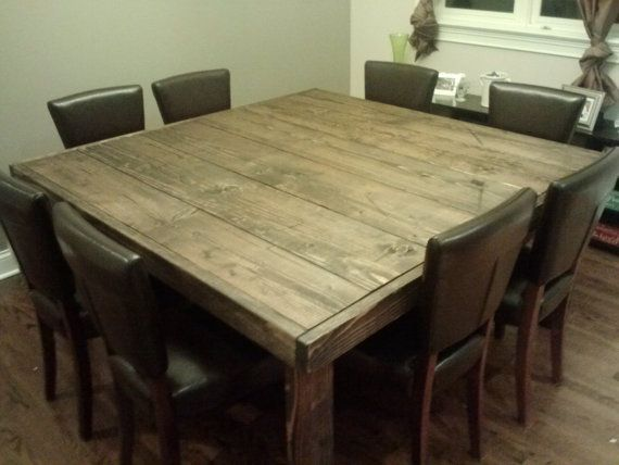 Square Farmhouse Table Reclaimed Wood Farmhouse By ThisOldWoodShop