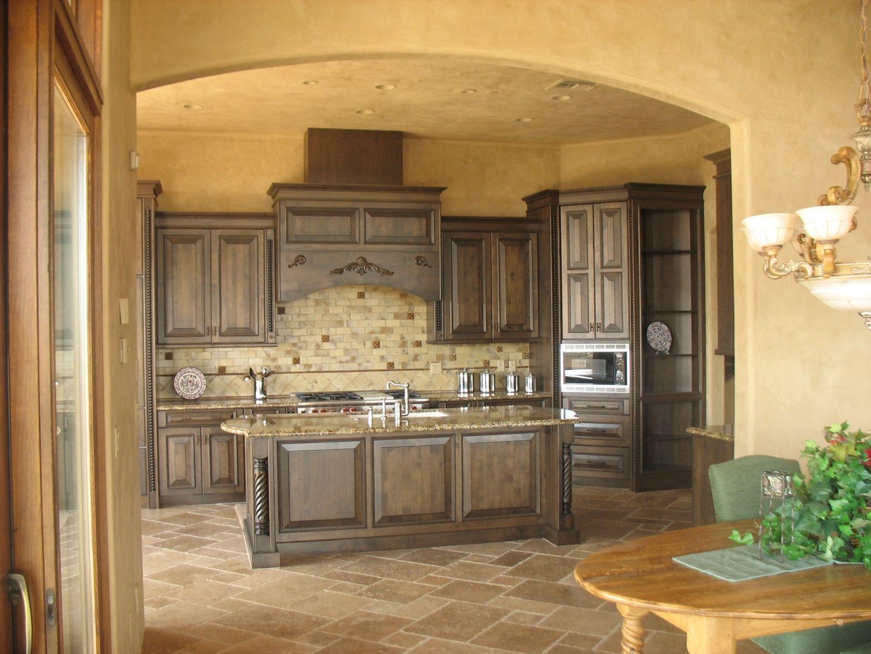 Best Kitchen Gallery: Tuscan Kitchen Possible Backsplash Kitchen Designs Pinterest of Tuscan Kitchen Cabinets on rachelxblog.com