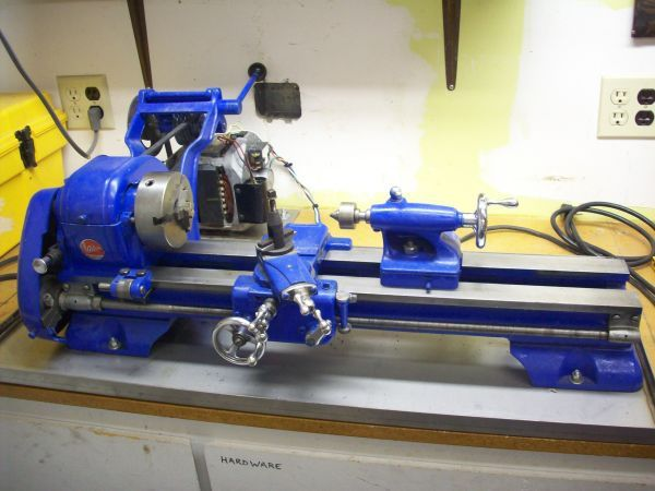 Atlas 618 bench lathe, nice looking in blue, very good condition | I