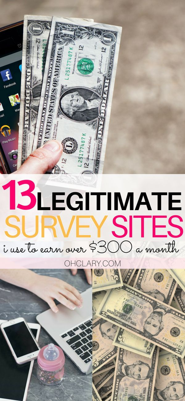 13 Survey Sites to Make Money From Home Today | Cash surveys, Extra ...