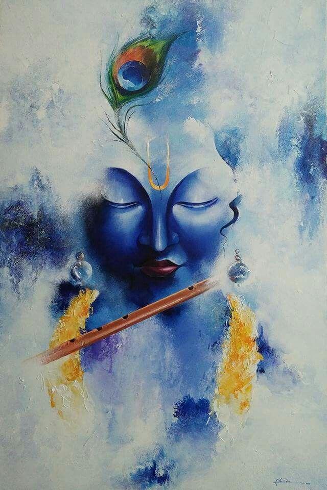 Krishna Soulful Painting With Images Krishna Art Krishna Painting
