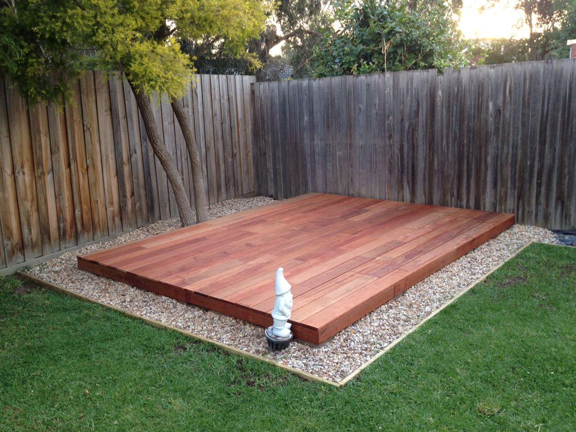 Ground level garden deck, made from Merbau wood ... on Ground Level Patio Ideas id=55048