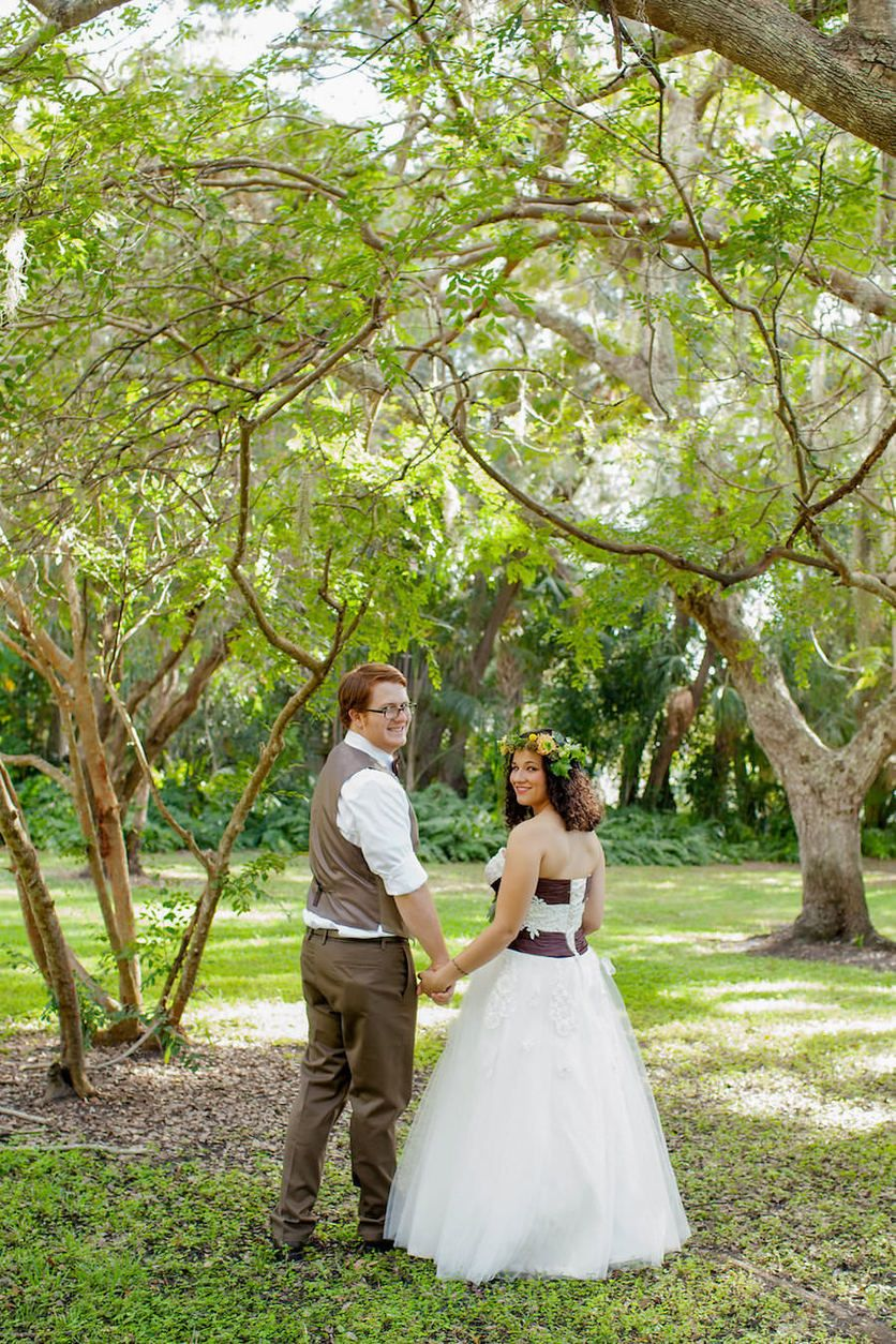 Lord of the Rings Inspired Wedding Garden club Wedding portraits
