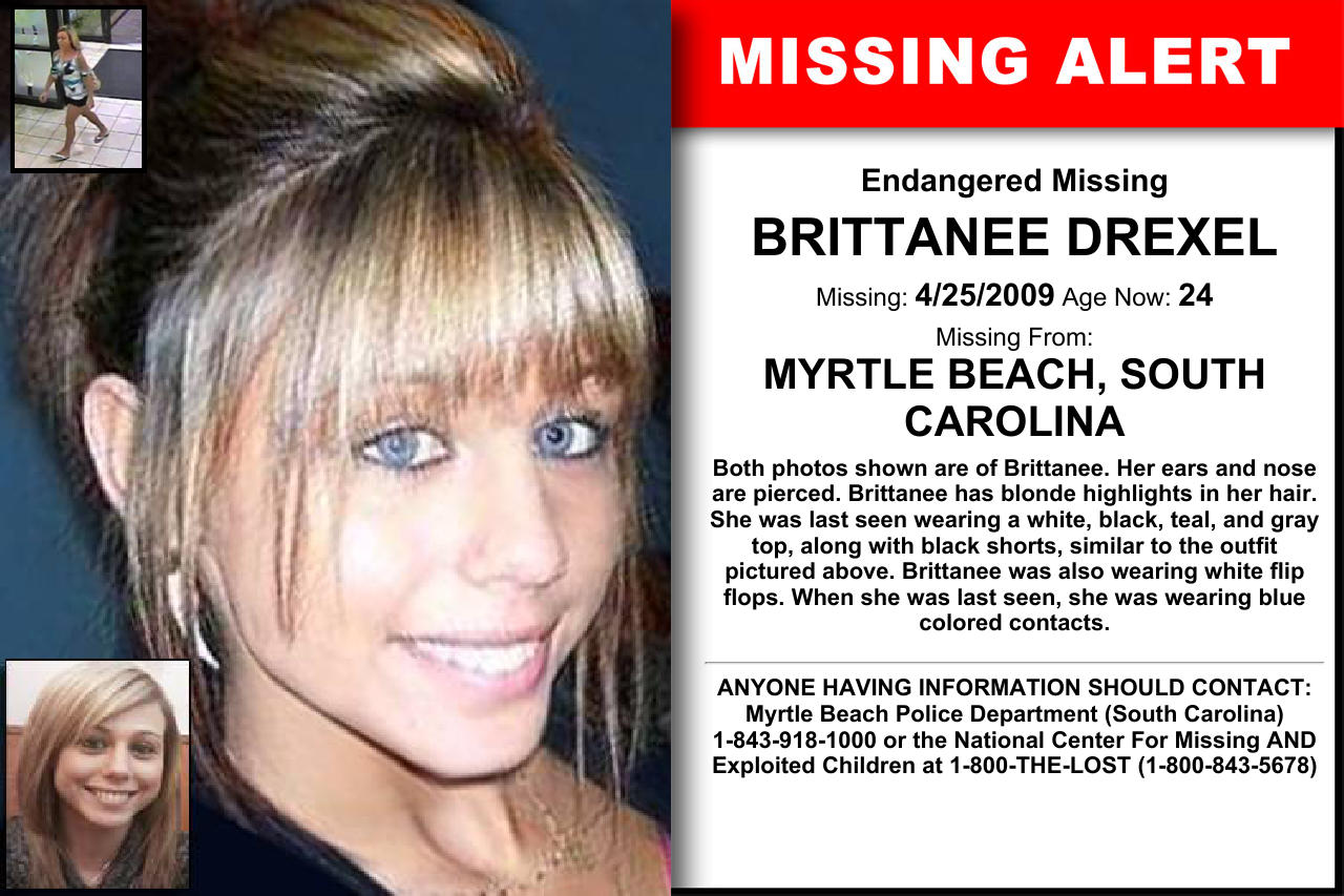 Brittanee Drexel Age Now 24 Missing 04 25 2009 Missing From Myrtle Beach Sc Anyone Having Information Sho Myrtle Beach Have You Seen Myrtle Beach Police