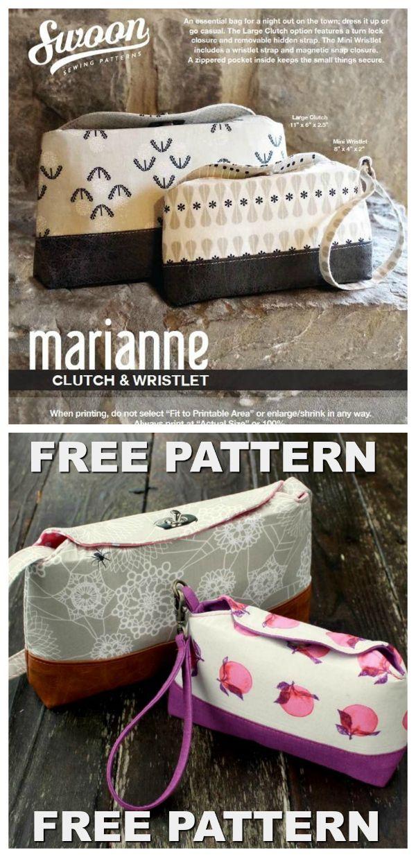 Marianne Clutch & Wristlet | Taschen & Täschchen | Pinterest | Nähen ...
