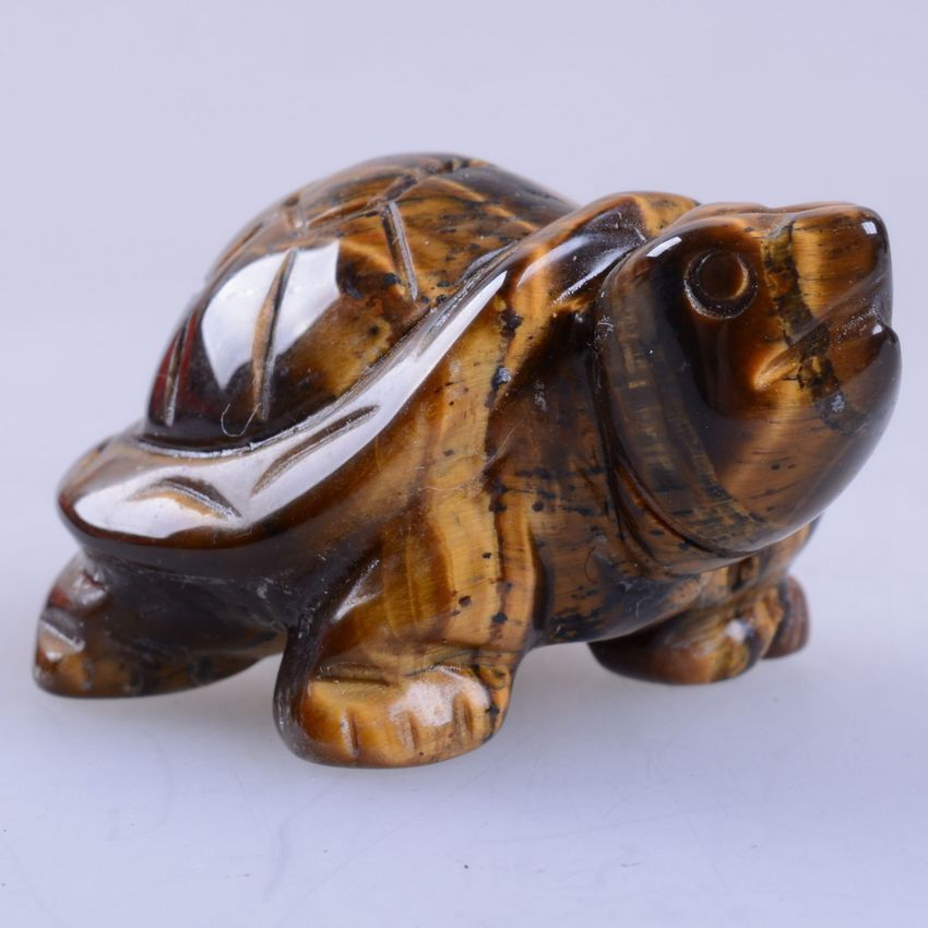 s80254 43mm Carved golden tiger eye turtle figurine in Collectibles, Rocks, Fossils & Minerals, Stone Carvings | eBay