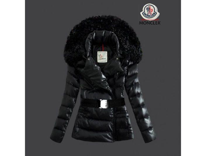 Schwarze Moncler Jacke