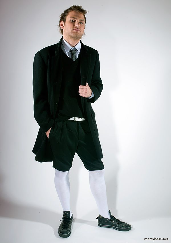 White tights for men / mantyhose | Mantyhose | Pinterest | White tights Mens fashion 2014 and ...