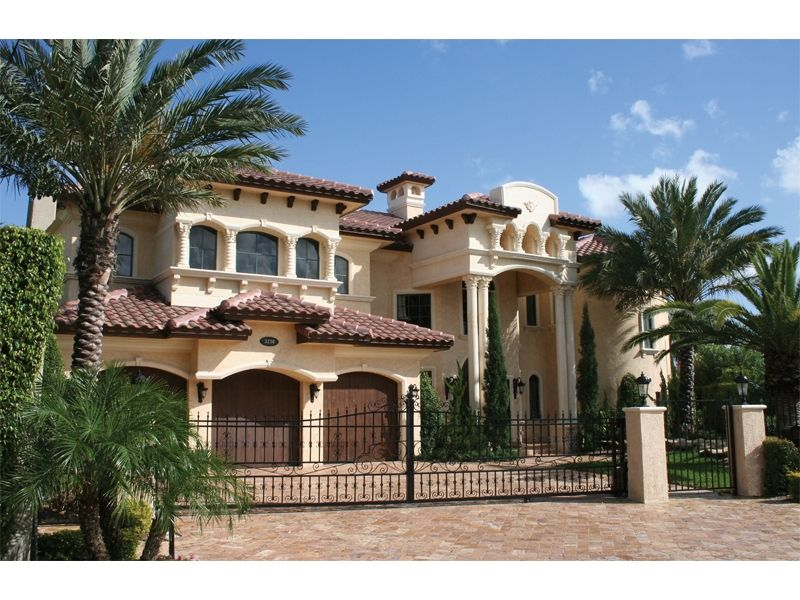 Exteriors For Mediterranean Homes | House Plans Santa Fe House Plans  Southwestern House Plans Spanish