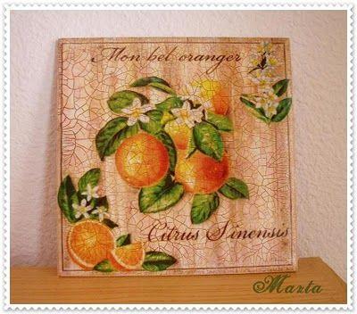Las manualidades de marta cuadro para la cocina cuadros - Cuadros para la cocina ...