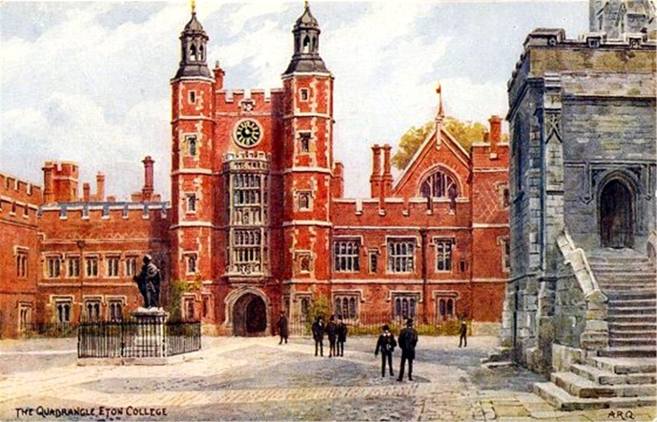 Postcards Of The Past Vintage Postcards Of Windsor And Eton Eton College Eton Places Around The World