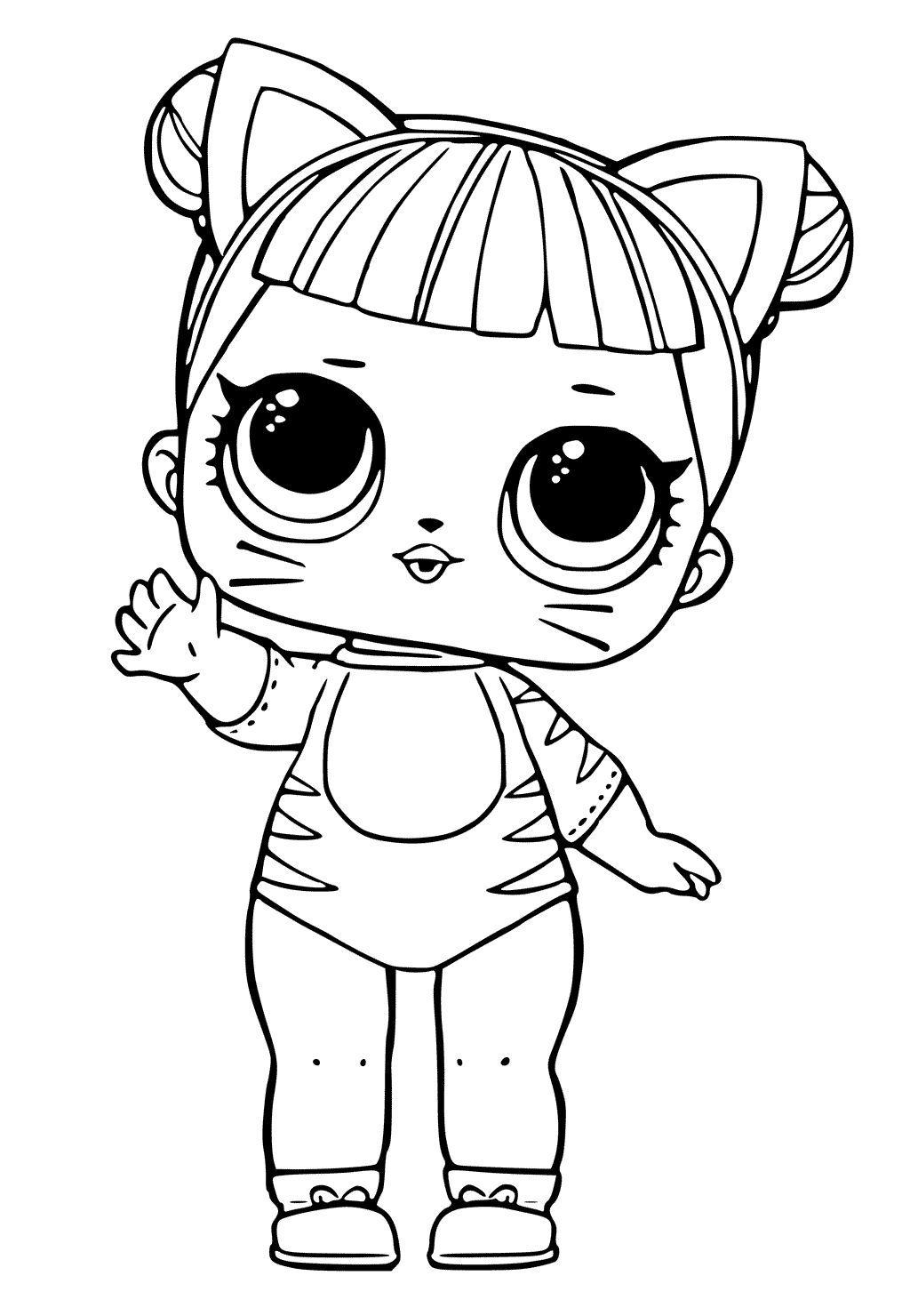 Lol Doll Coloring Pages Pdf I 2020 Maleboger Lol Dukker Tegninger