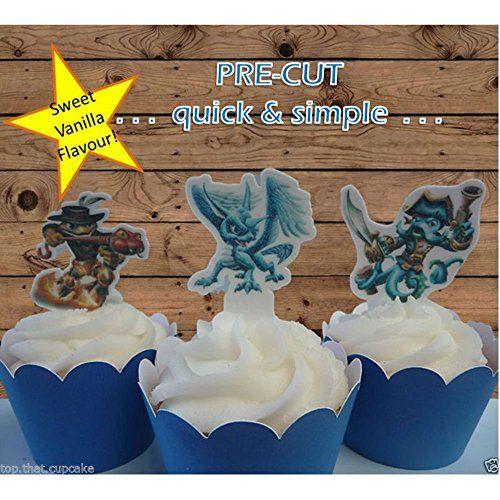 skylander EDIBLE wafer cupcake cake toppers birthday PRECUT For