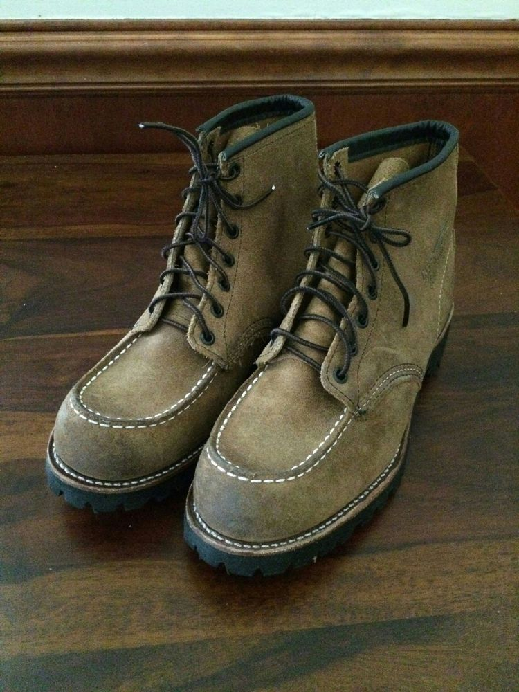 Jcrew Red Wing Rugged Boots 9 Straw Brown Suede Shoes Swag Boots Rugged Boots Suede Shoes