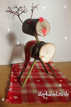 TUTO , DIY , Faire un renne en bois pour décorer la table de noël ou le  sapin