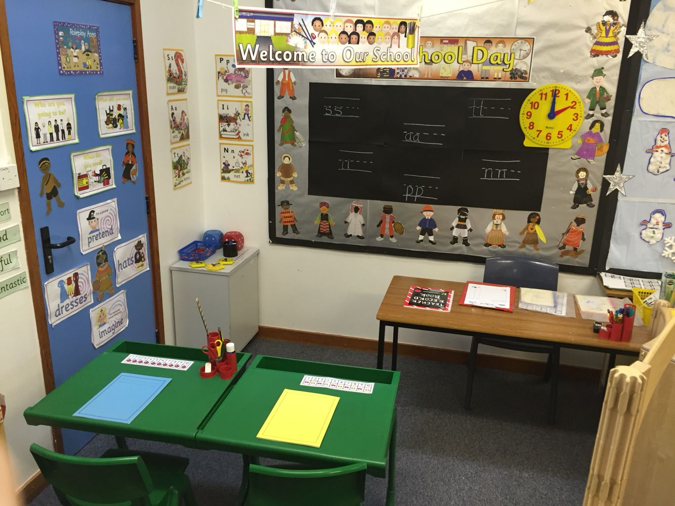 Set Up A School Role Play Area For Preschool Children To