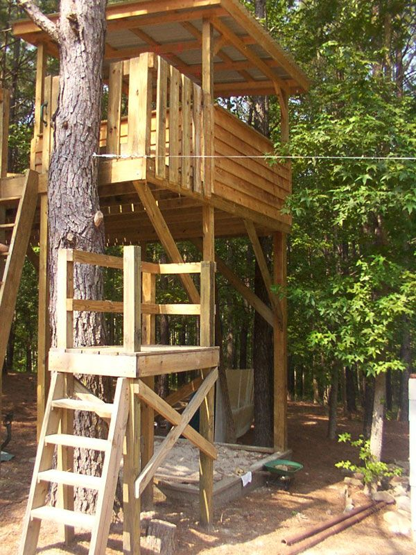 zip line platform - Google Search | Tree house kids, Backyard