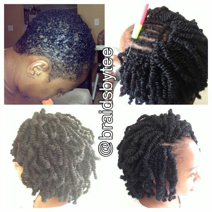 Crochet spring twist on that short of hair...what! Totally need to try this!