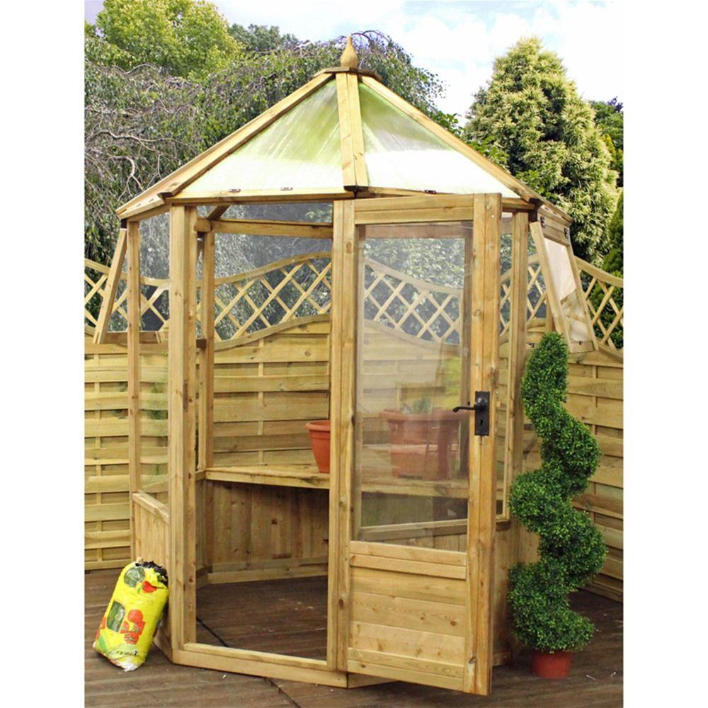 Mercia 6ft Wooden Octagonal Greenhouse | Garden | Pinterest | Wooden ...