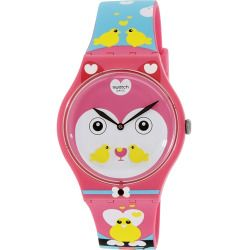 Swatch Women's Originals SUOZ190 Multi Silicone Swiss Quartz Watch