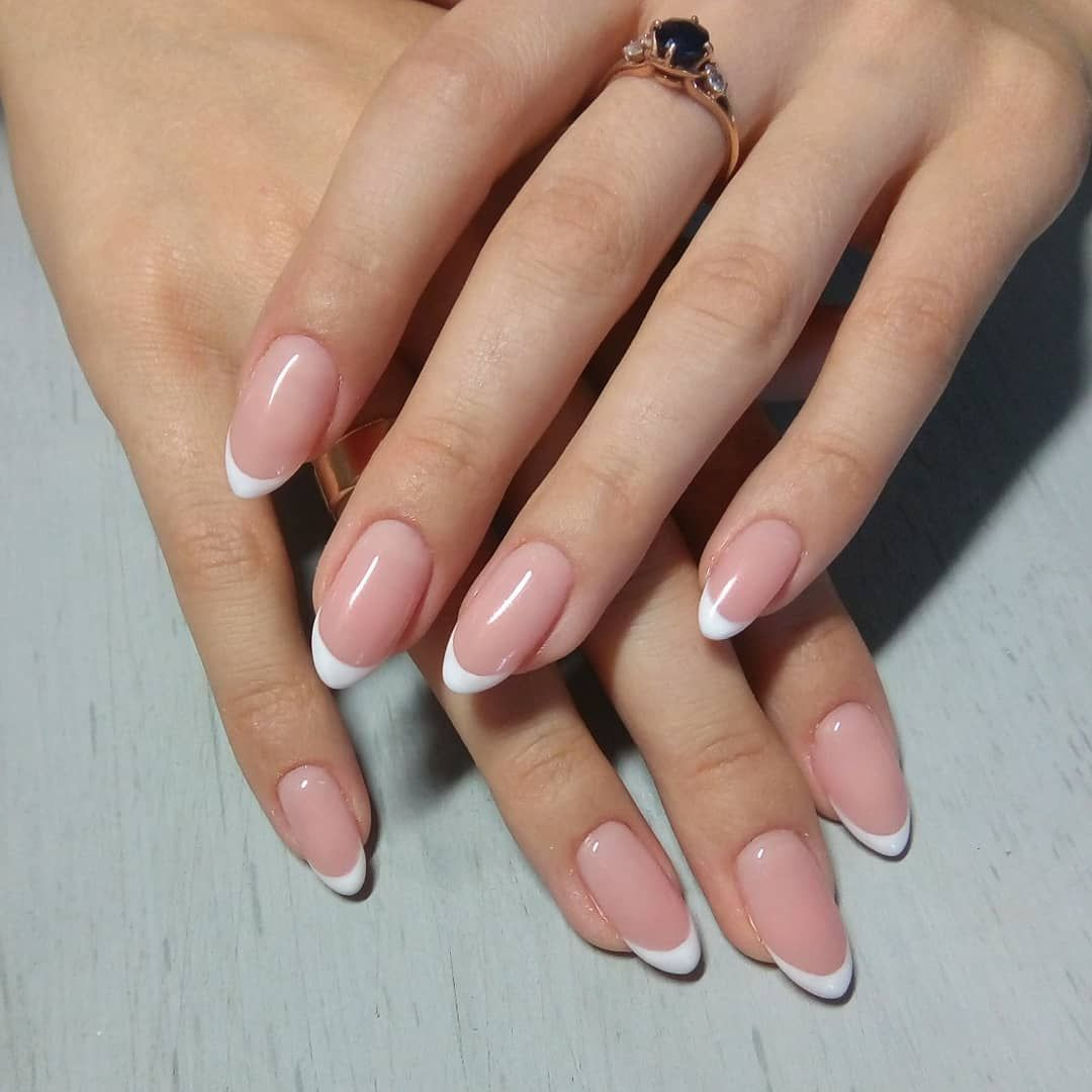 9 Stunning Modern French Manicure Ideas Stylish Belles French Manicure Acrylic Nails Gel Nails French Almond Nails Designs