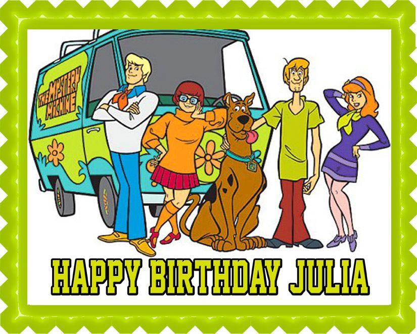 Scooby doo edible birthday cake topper or cupcake topper - Personnage de scoubidou ...