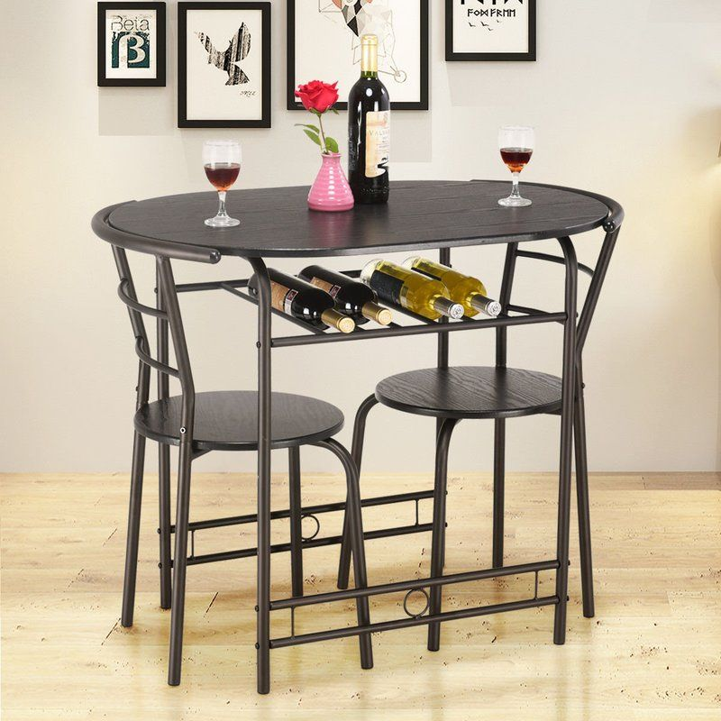 Hassinger 3 Piece Dining Set Dining Room Furniture Table