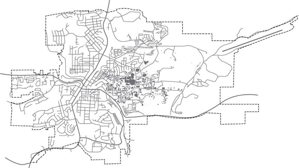 Vector Map Of Pullman Wa Featuring Washington State University