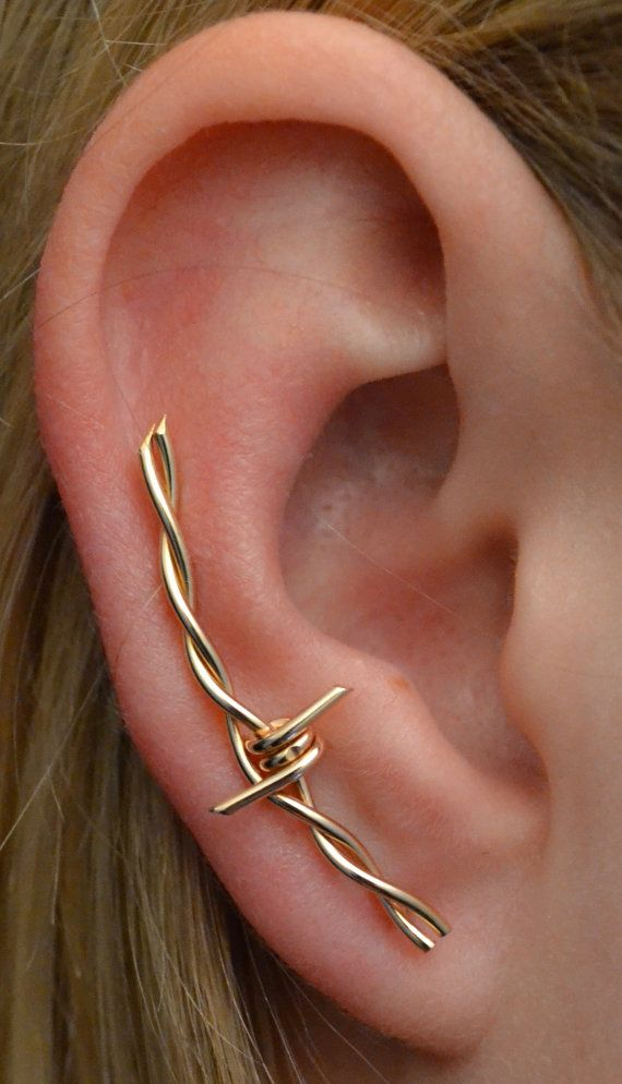 26e1d12d1 Barbed Wire Ear Climber - Ear Cuff - Earring Pin - Ear Climber - Ear ...