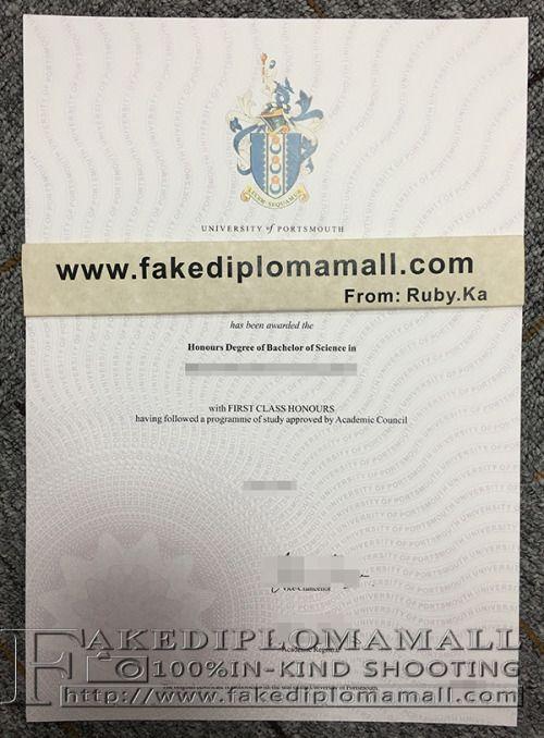 buy university of portsmouth fake degree, university of portsmouth - first class degree