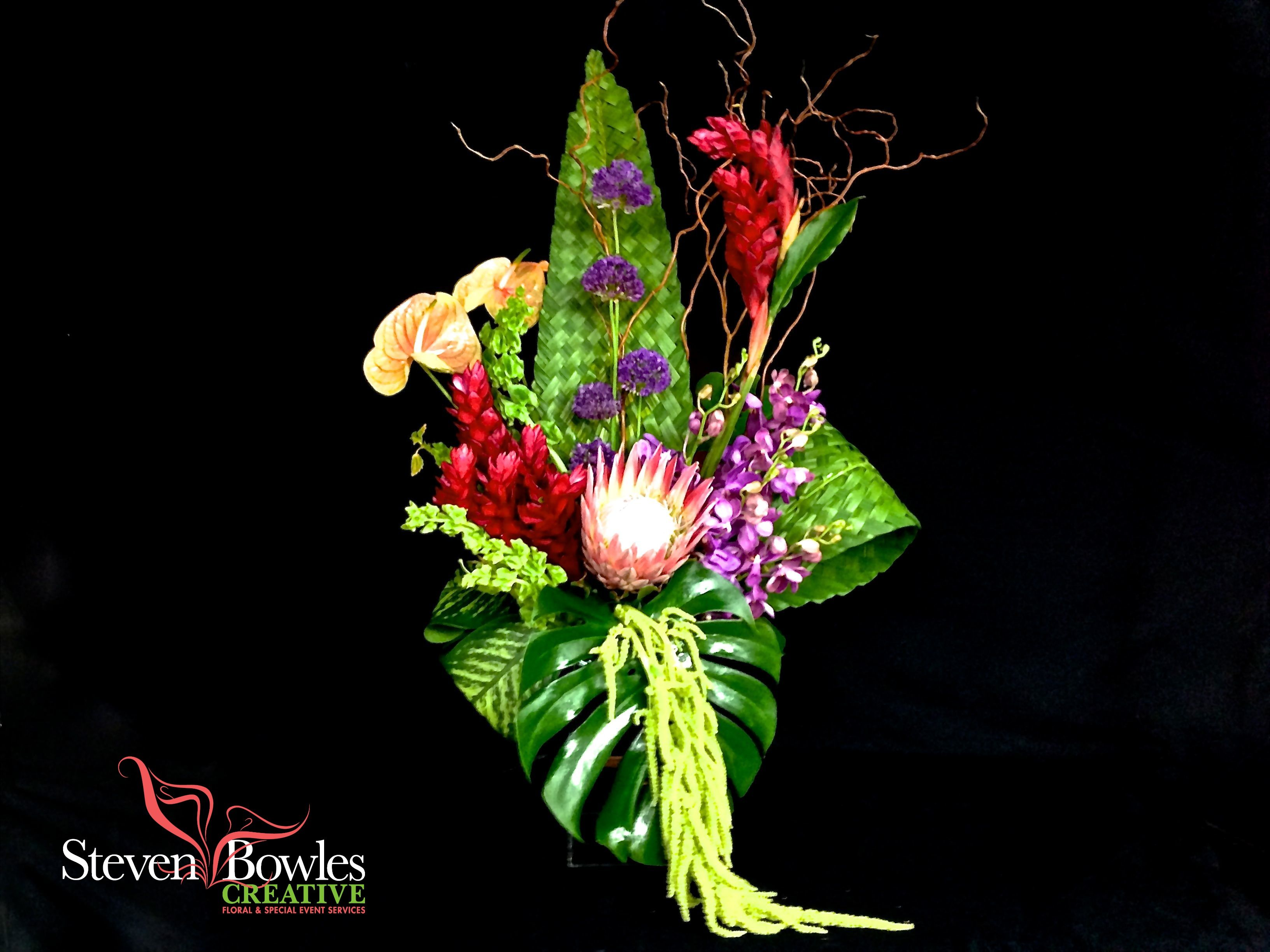Tropical flower arrangements by steven bowles creative on