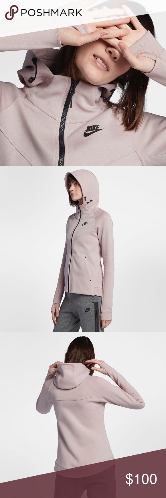 Nike Pink Tech Fleece Windrunner Hoodie NWT Fashion