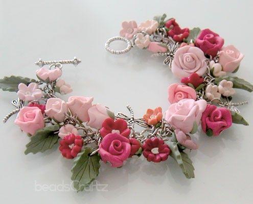 WOW: Rose Bracelet  Bridal Bracelet My Secret Garden by beadscraftz, $125.00