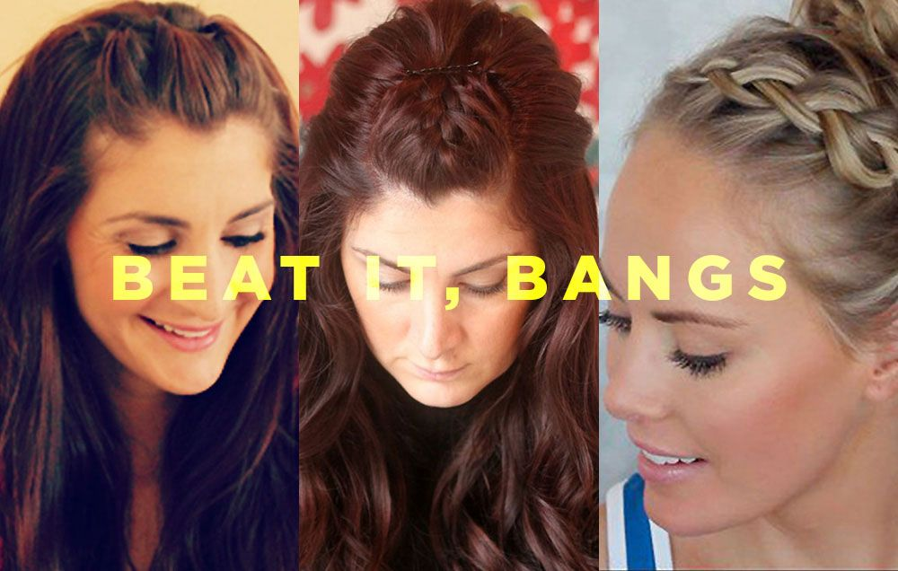 6 Cute Ways To Style Your Bangs When You Re About To Get Sweaty How To Style Bangs Hair Styles Curly Hair Styles