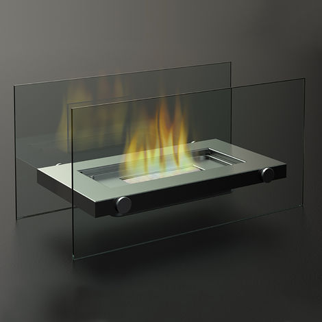 Firefriend Cheminee De Table Inox Et Verre 8713016001153 En 2020 Cheminee En Verre Cheminee A L Ethanol Table Inox