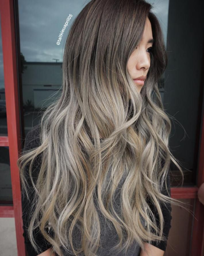 Brown To Ash Blonde Ombre Hair Pelos Pinterest Blonde Ombre