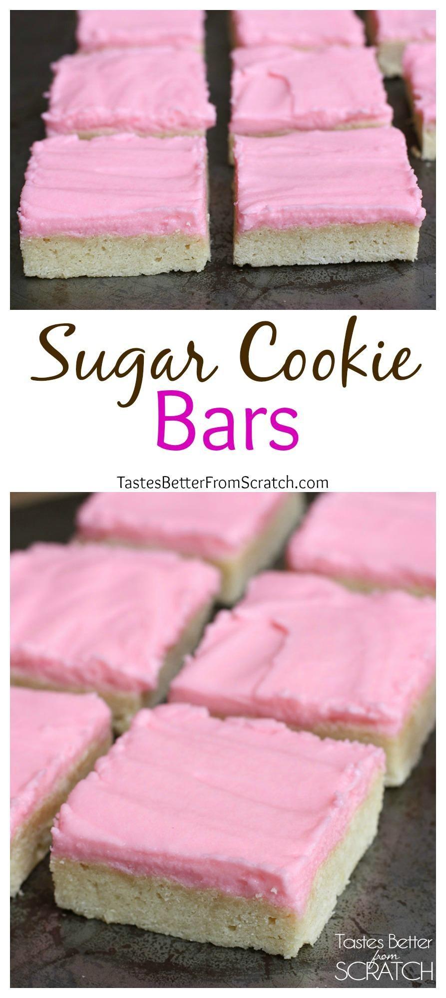 Sugar Cookie Bars on TastesBetterFromScratch.com