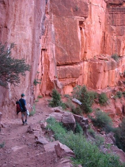 Hiking down into the Grand Canyon. One of my favorite trips.