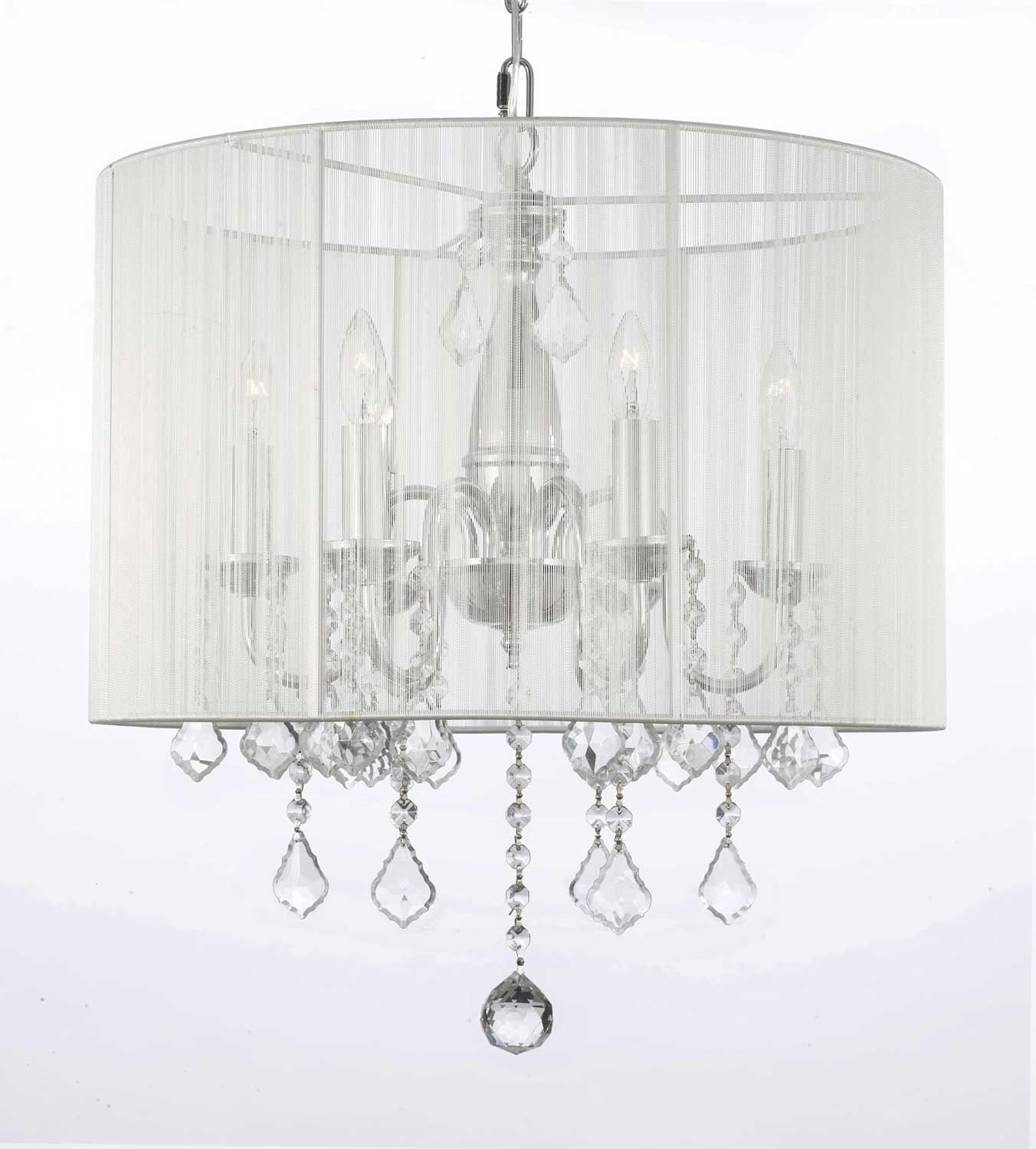 G Gallery Chandeliers With Shades CRYSTAL CHANDELIER WITH - Chandelier with shades and crystals