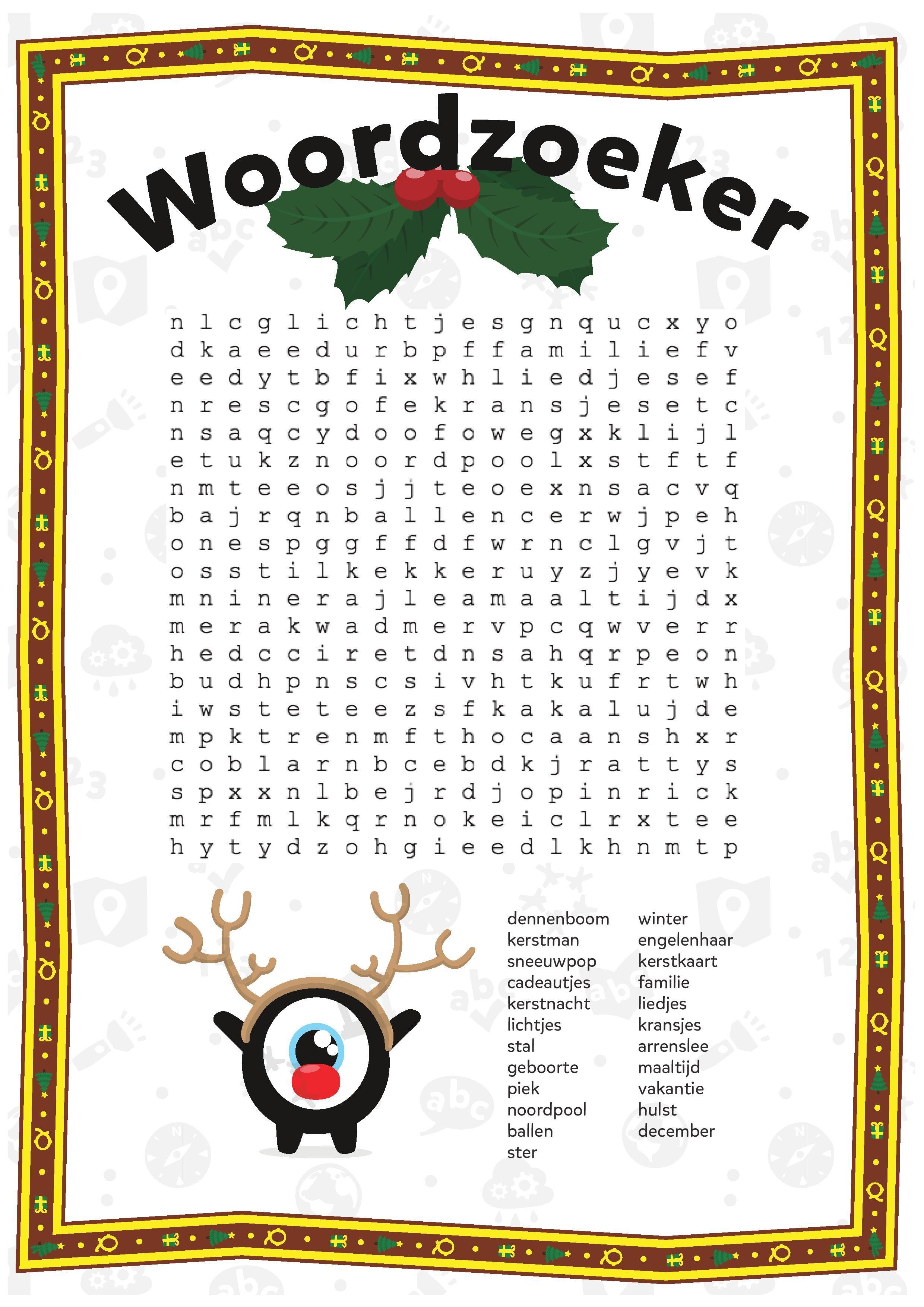 Kleurplaten Kerst Groep 5.Kleurplaten En Puzzels Voor Kinderen Kerst Groep 5 6 Christmas