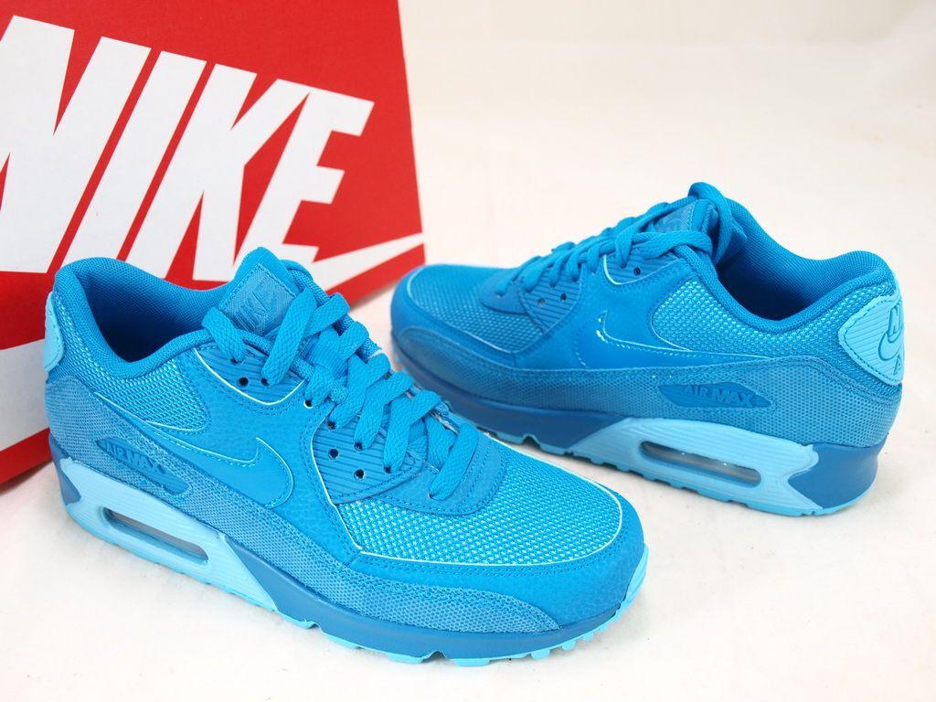 reputable site 1605b 58ce2 Nike Womens Air Max 90 Premium – Light Blue Lacquer-Clearwater   Air 23