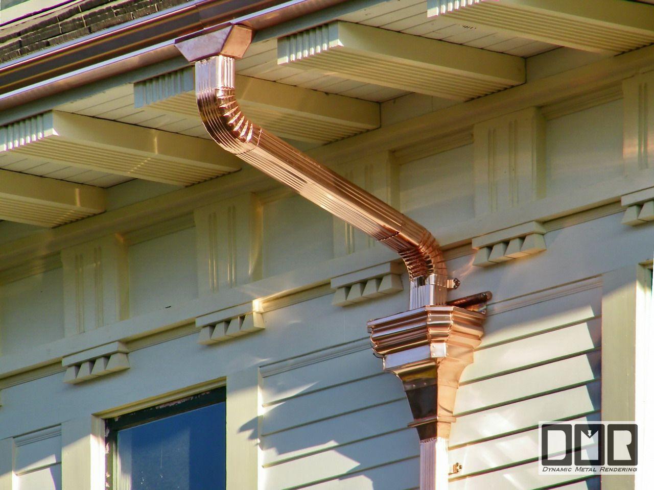 Nutt Copper Gutter Work Details Photopage Copper Gutters Gutters Downspout