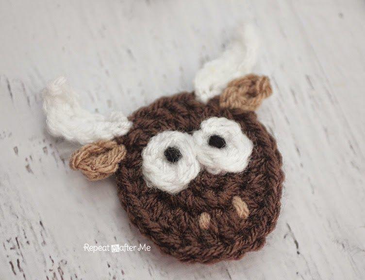 Y is for Yak: Crochet Yak Applique | Apliques y Miniaturas