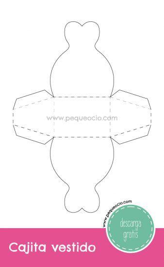 cajitas para regalo en forma de vestido ¡descarga gratis | cajas