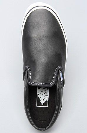 black aged leather vans. | Boogie shoes, Leather vans