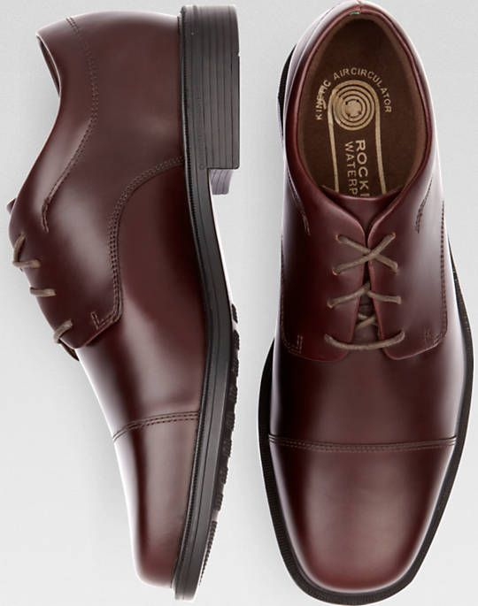 Rockport Ellingwood Burgundy Waterproof Lace Up Casual Shoes - Men's Casual  Shoes | Men's Wearhouse