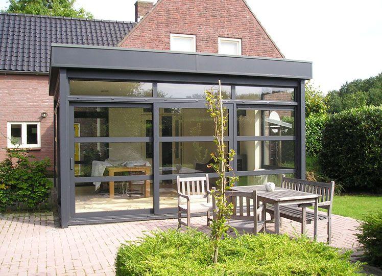 Serre met plat dak plaatsen aanbouw pinterest veranda plaatsen en zoeken - Pergola dak platte ...